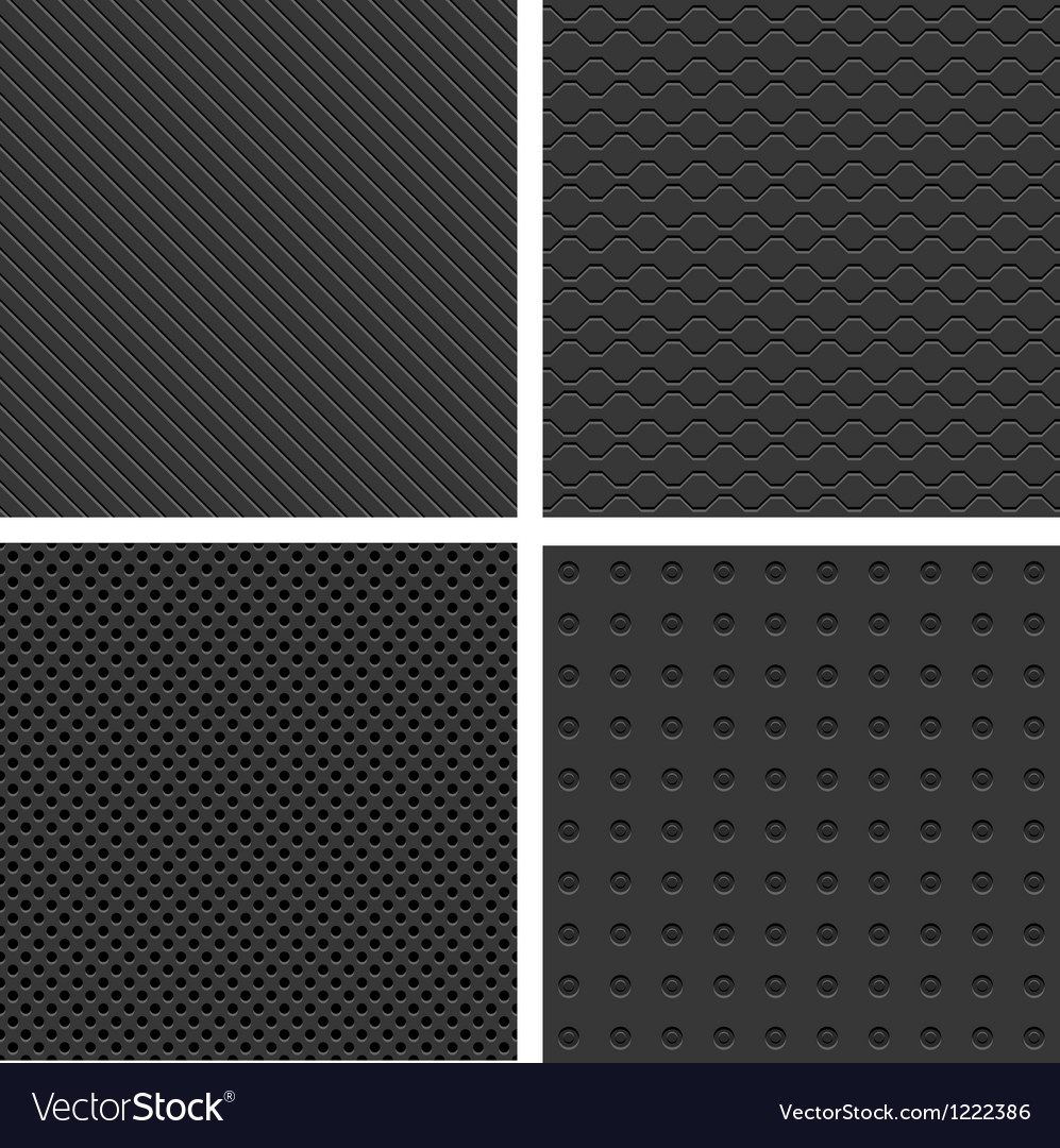 Metal seamless patterns vector | Price: 1 Credit (USD $1)