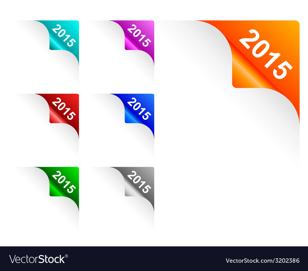 Paper corners 2015 vector | Price: 1 Credit (USD $1)