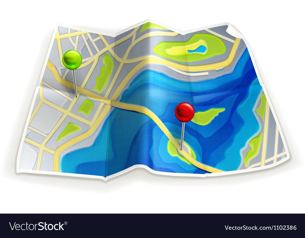 Road map vector | Price: 1 Credit (USD $1)