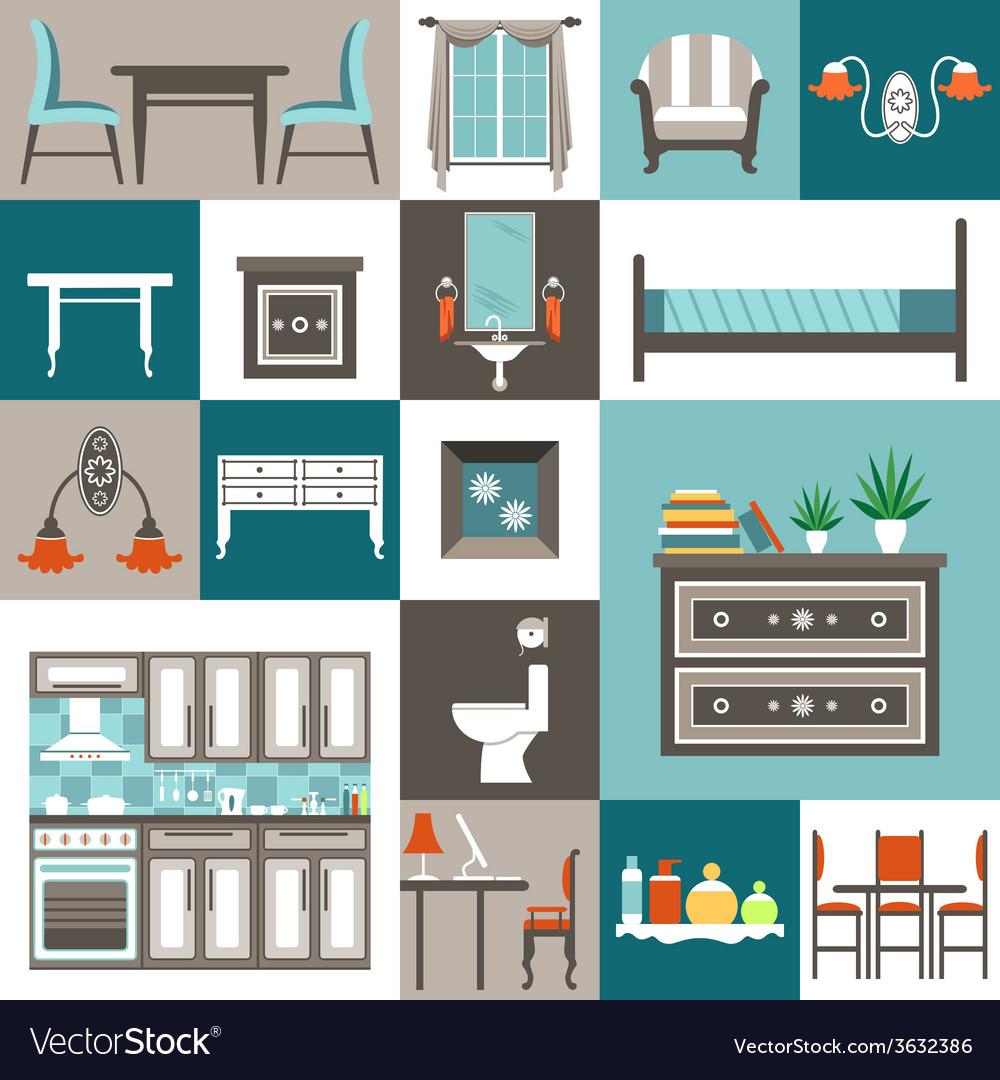 Set furniture vector | Price: 1 Credit (USD $1)