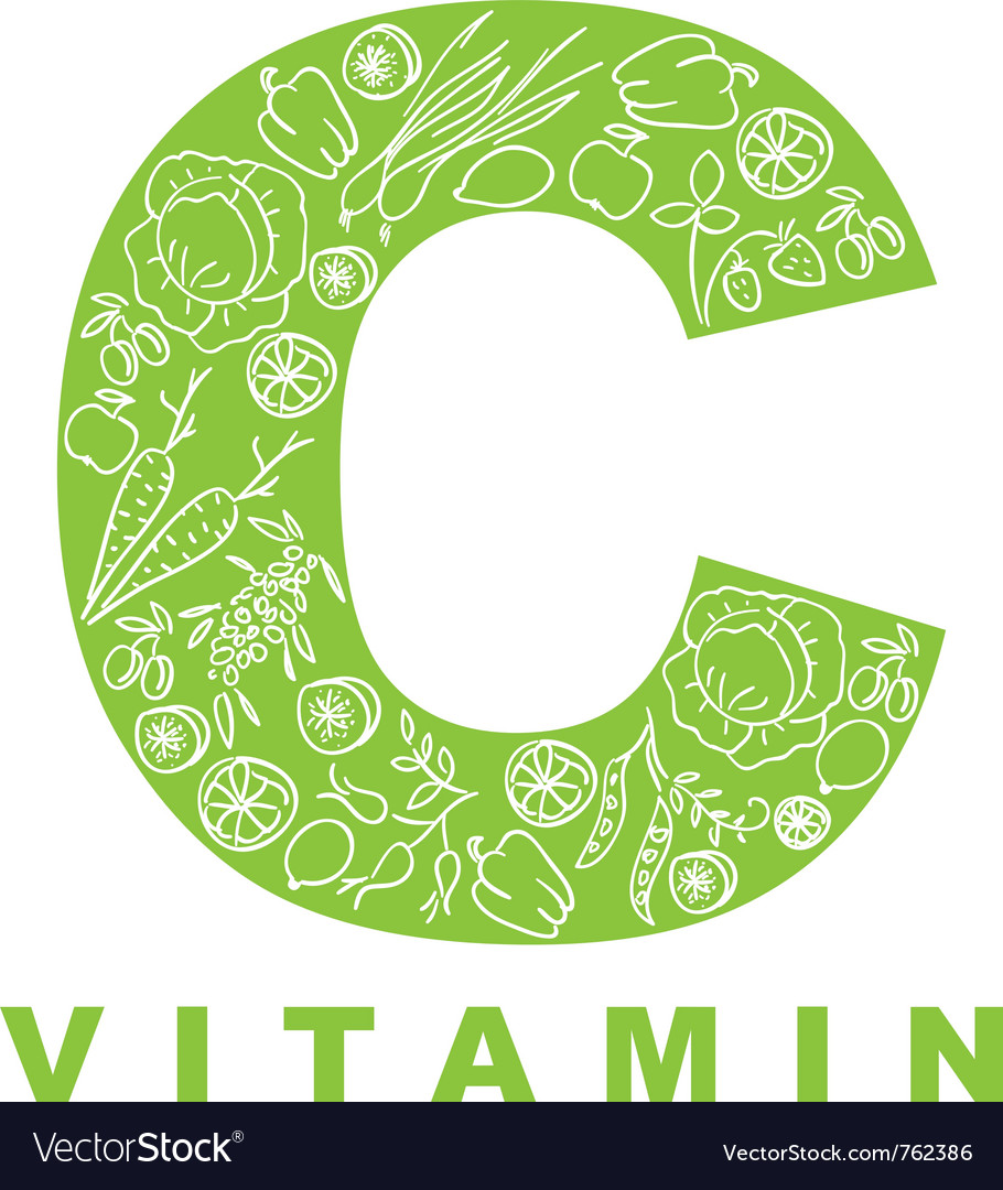 Vitamin c vector | Price: 1 Credit (USD $1)