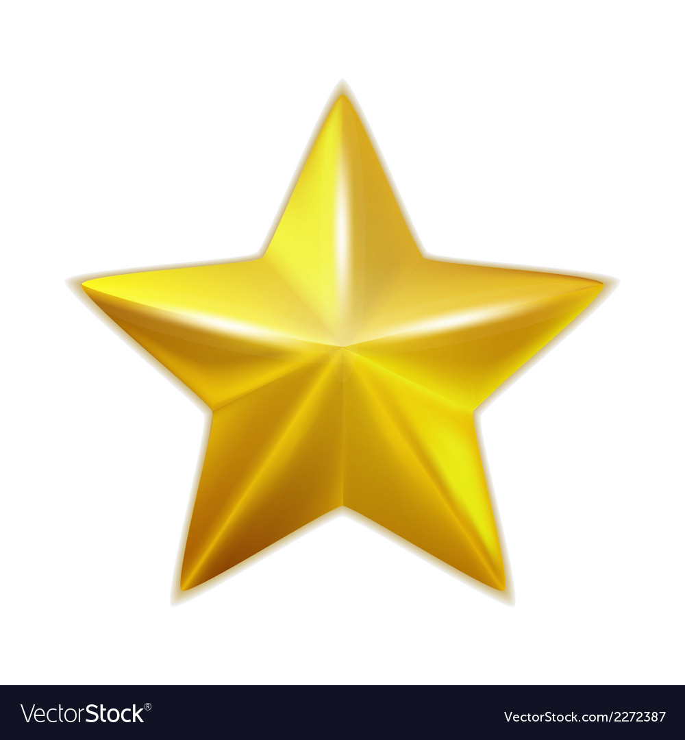Gold star isolated vector | Price: 1 Credit (USD $1)