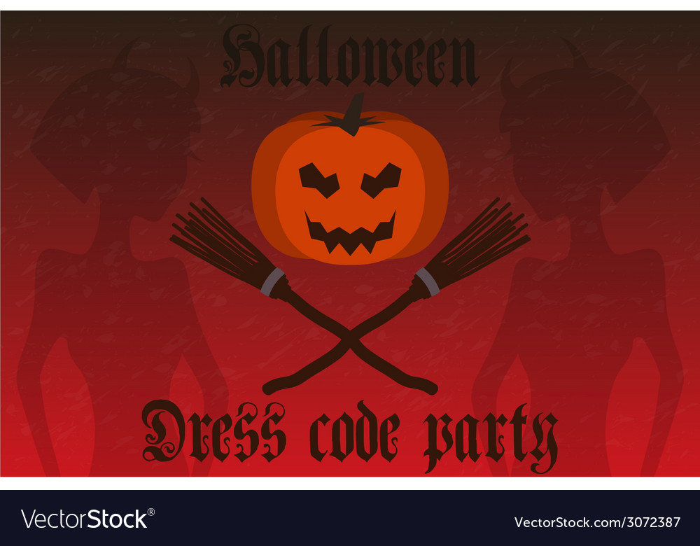 Halloween party invitation holiday card flyer vector | Price: 1 Credit (USD $1)
