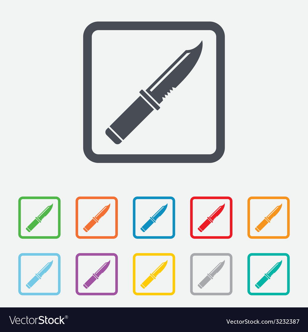 Knife sign icon edged weapons symbol vector | Price: 1 Credit (USD $1)