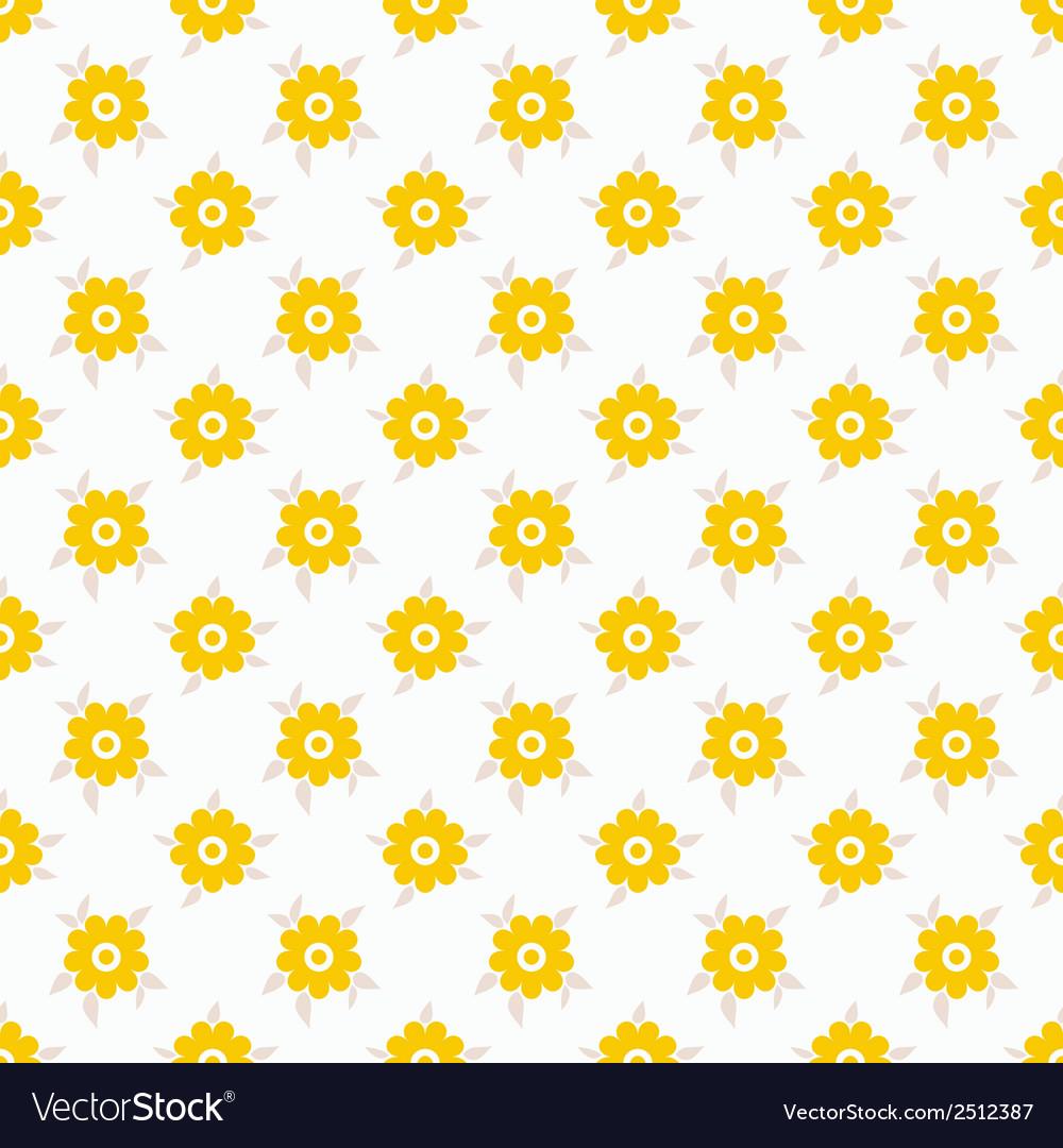 Light summer seamless pattern tiling fond white vector | Price: 1 Credit (USD $1)