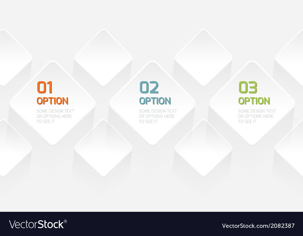 Modern origami style options banner vector | Price: 1 Credit (USD $1)