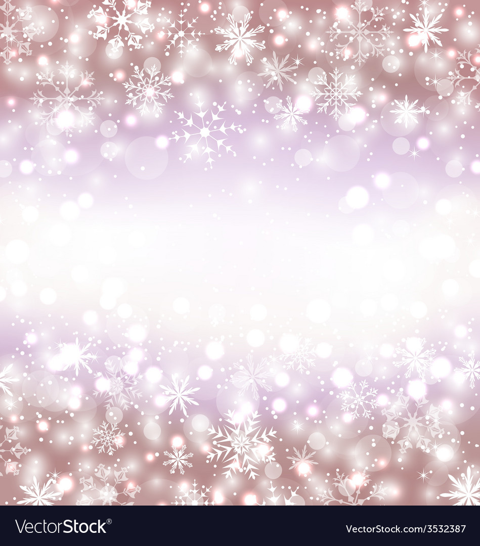 Navidad winter background with snowflakes and copy vector | Price: 1 Credit (USD $1)