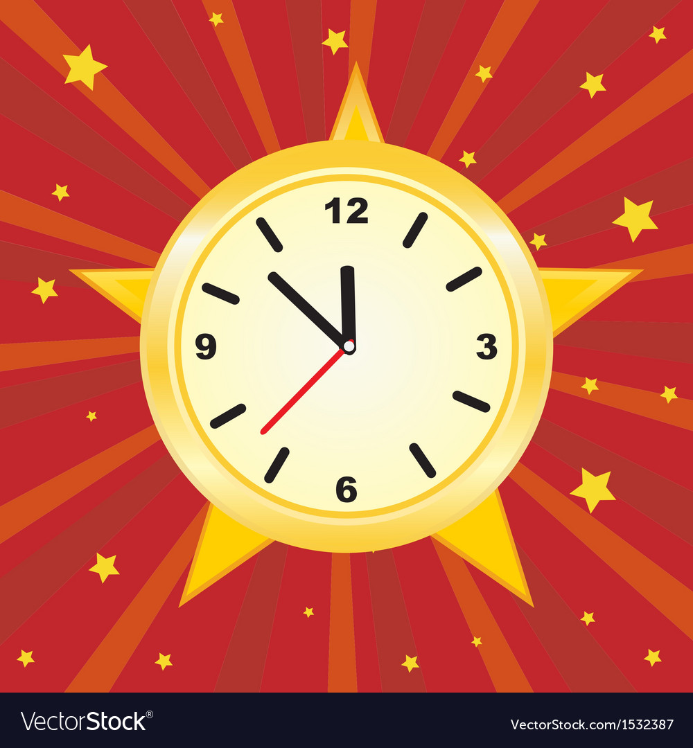 Old vintage clock face vector | Price: 1 Credit (USD $1)