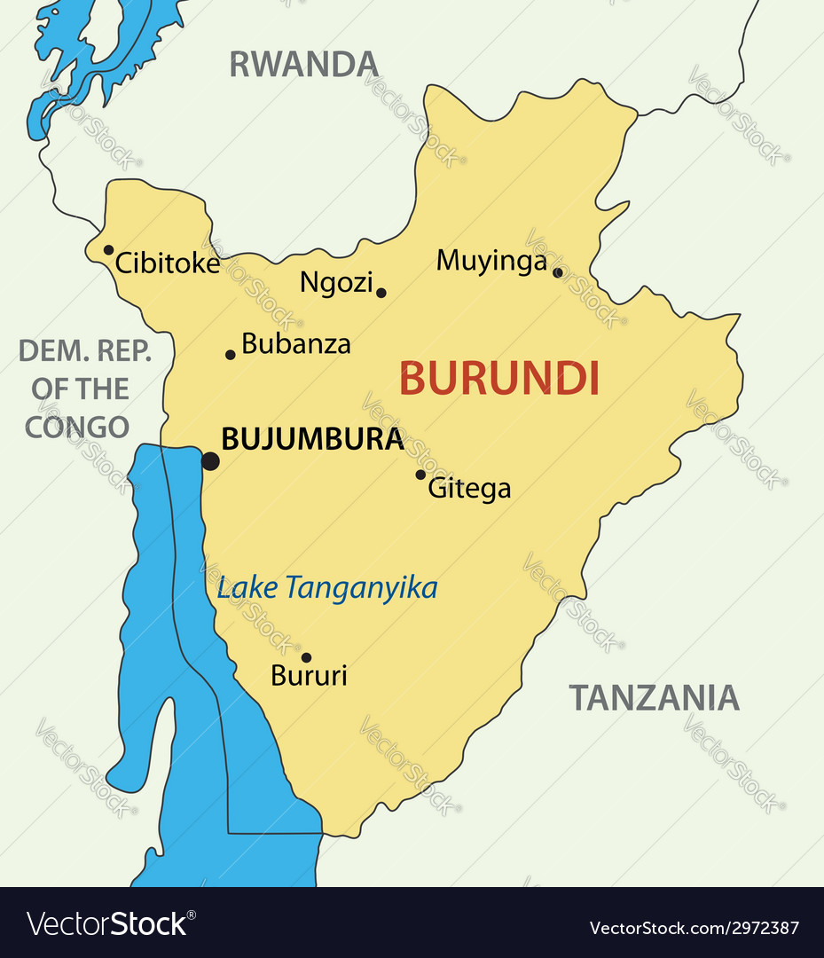Republic of burundi - map vector | Price: 1 Credit (USD $1)