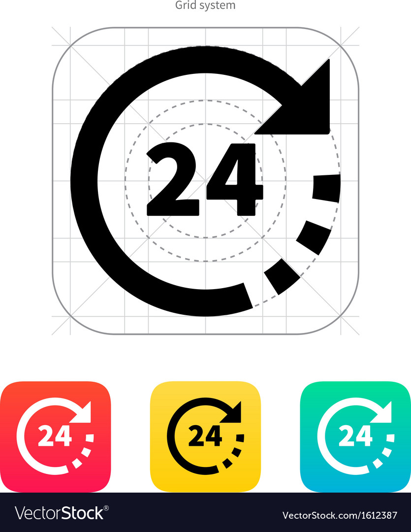 Round-the-clock icon vector | Price: 1 Credit (USD $1)