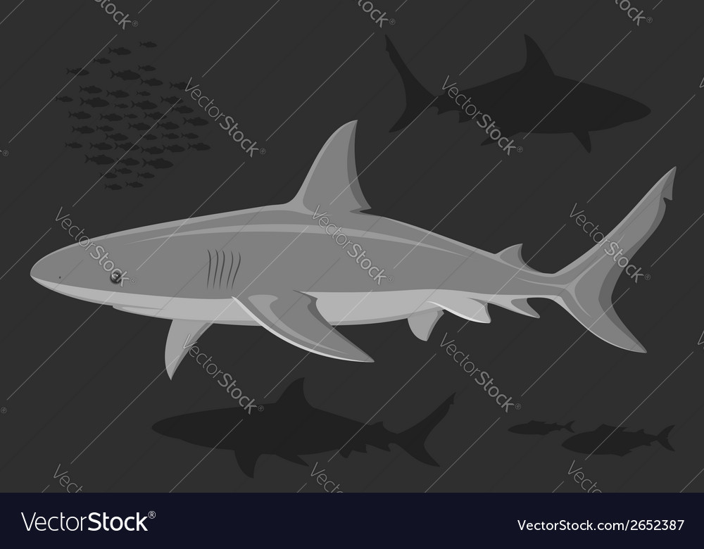 Sharks in the deep sea vector | Price: 1 Credit (USD $1)