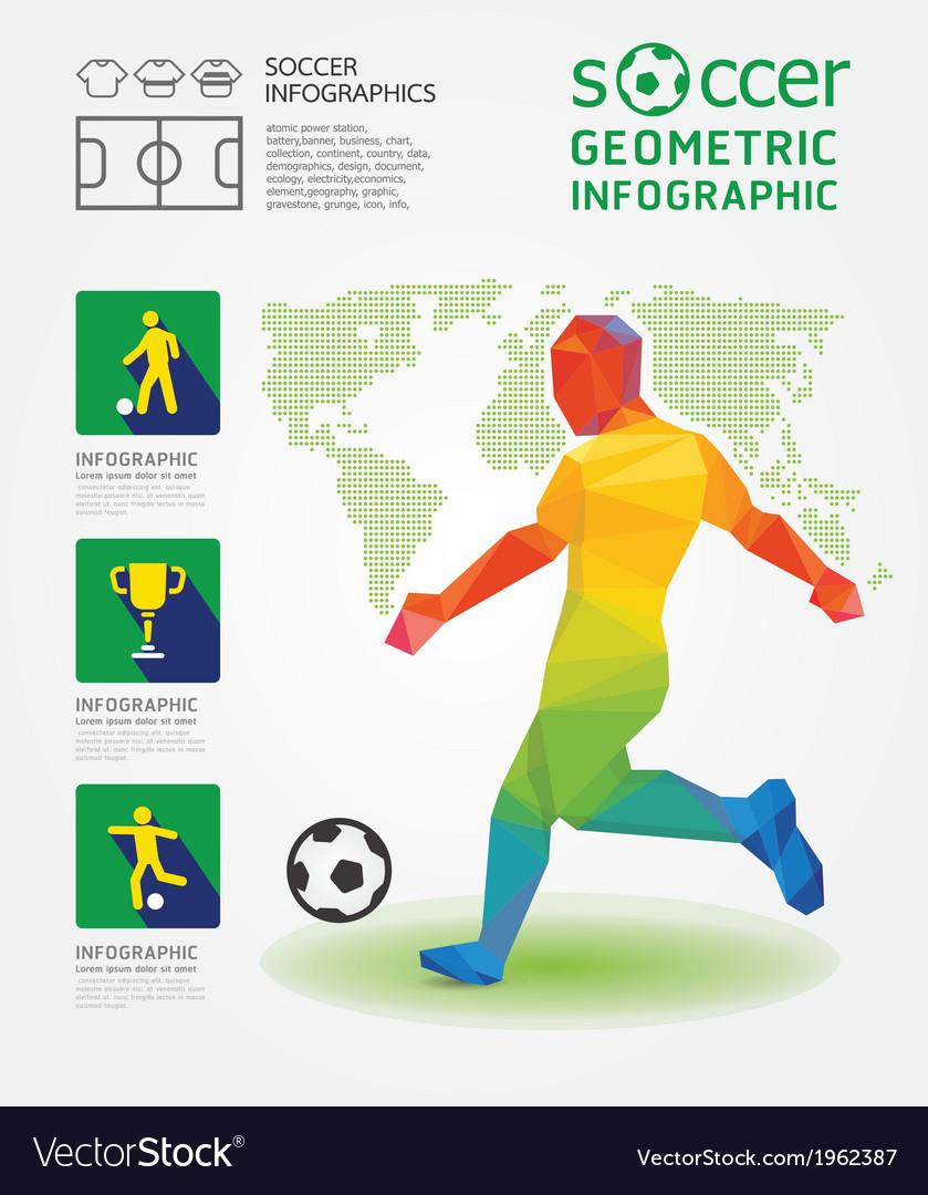 Soccer infographic geometric concept design vector | Price: 1 Credit (USD $1)