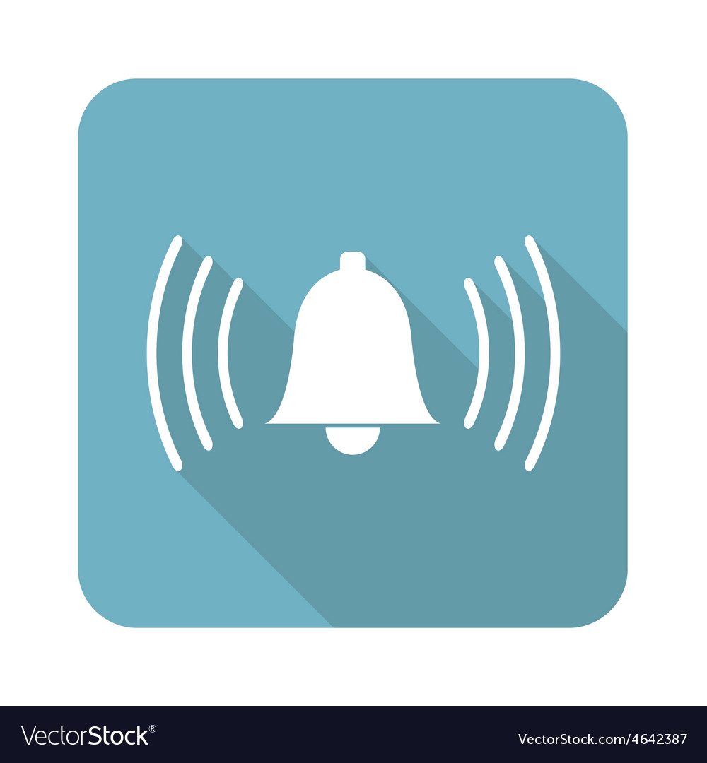 Square ringing bell icon vector | Price: 1 Credit (USD $1)