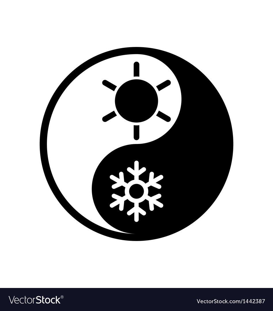 Symbol of climate balance in shape yin-yang vector | Price: 1 Credit (USD $1)