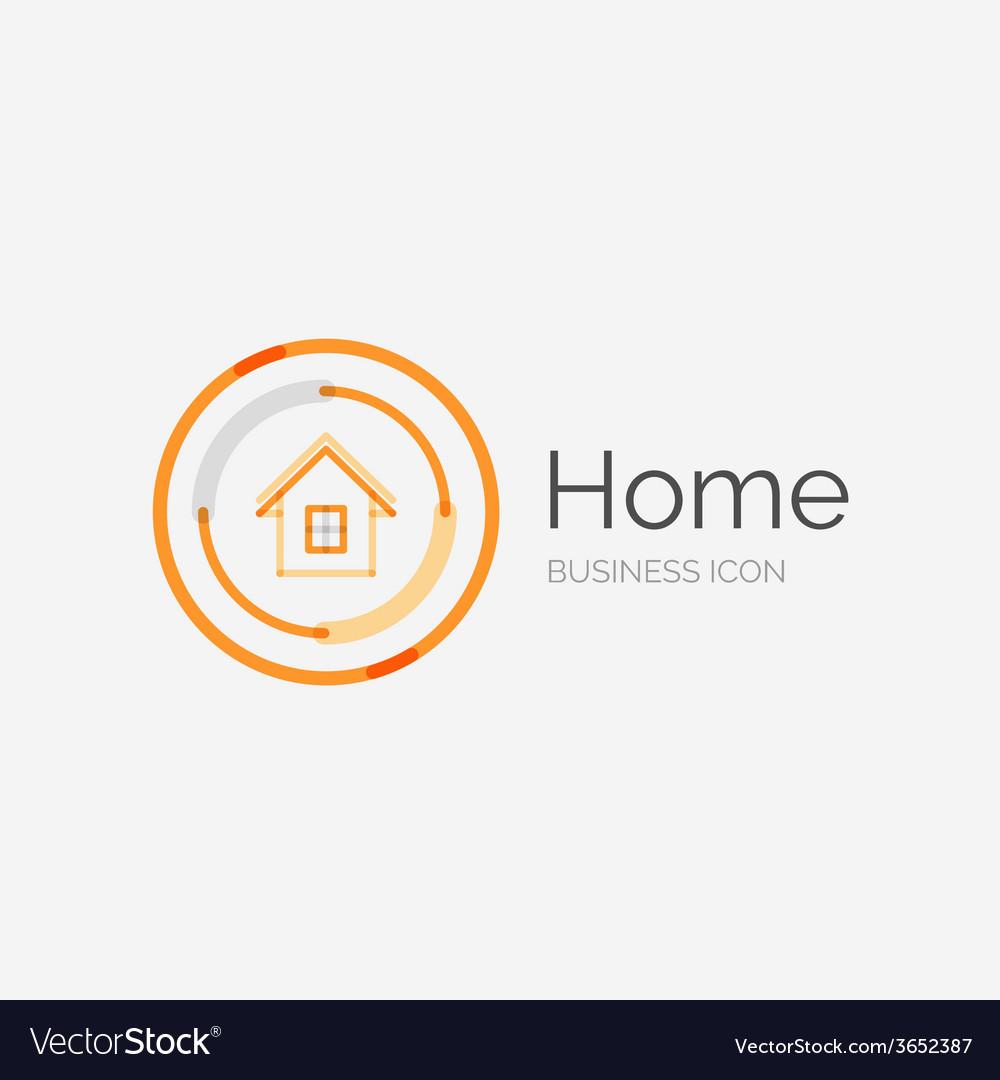 Thin line neat design logo home idea vector | Price: 1 Credit (USD $1)