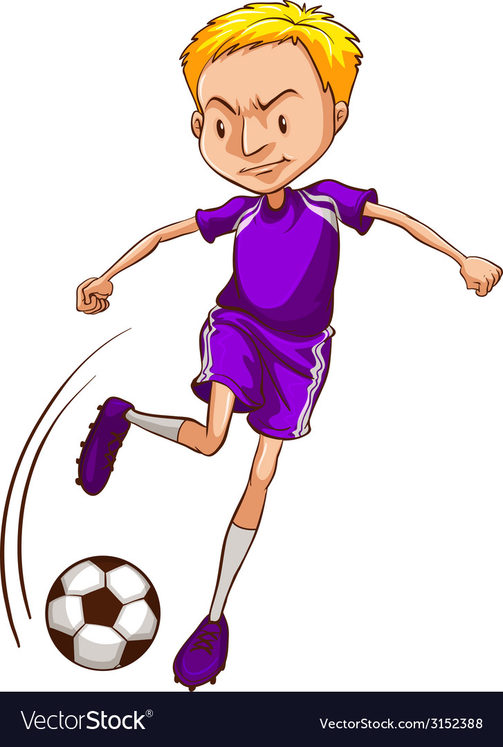 A male soccer player vector | Price: 1 Credit (USD $1)