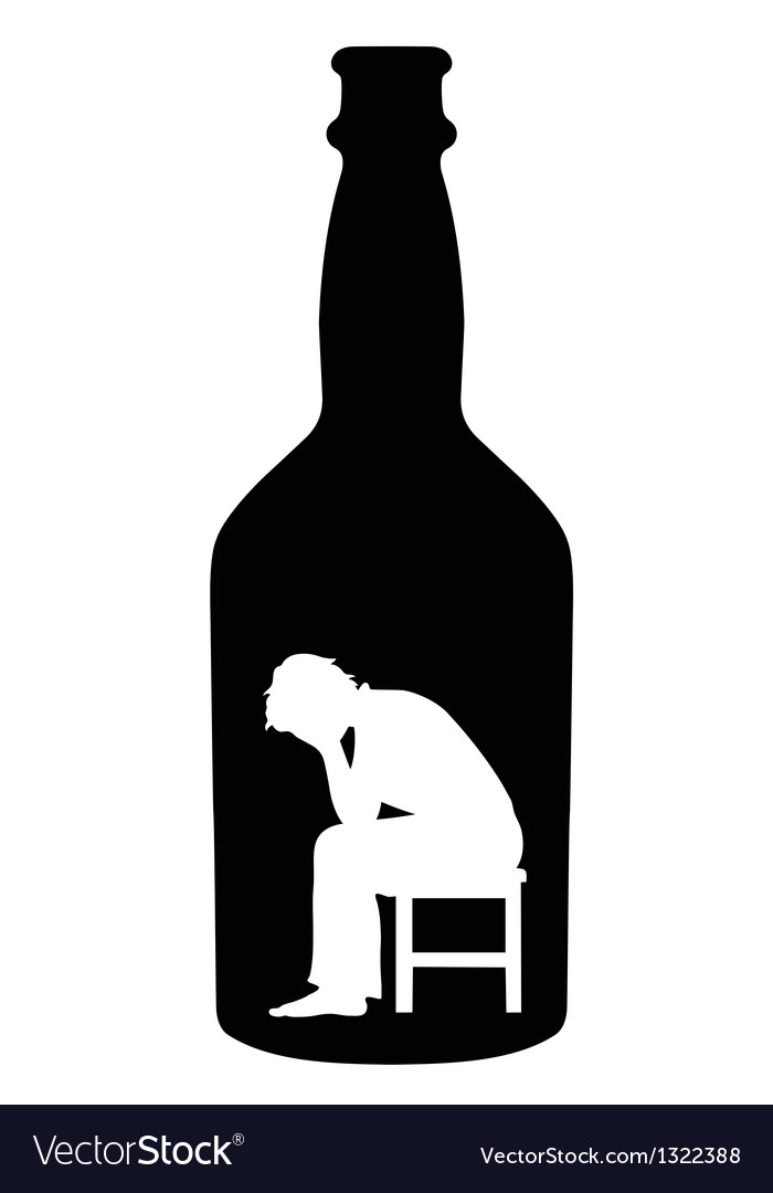 Alcoholism vector | Price: 1 Credit (USD $1)