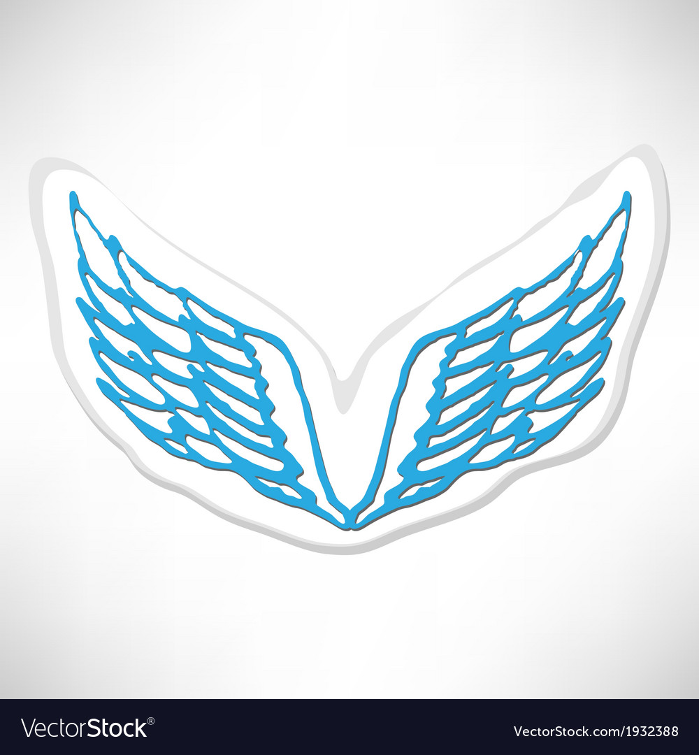 Angel icon retro background vector | Price: 1 Credit (USD $1)