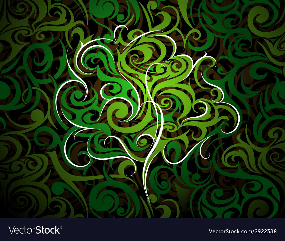 Artistic tree shape vector | Price: 1 Credit (USD $1)