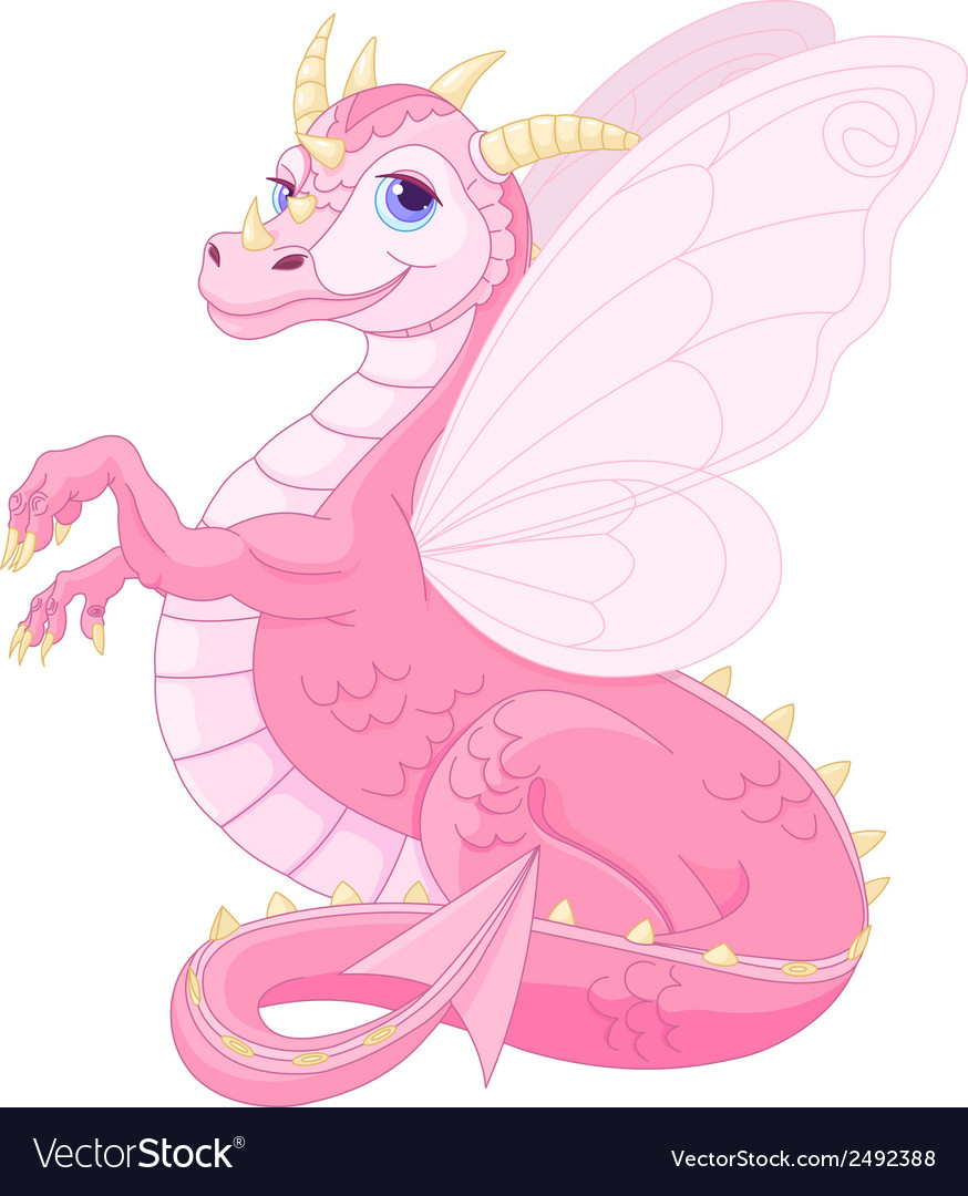 Beautiful magic dragon vector | Price: 1 Credit (USD $1)