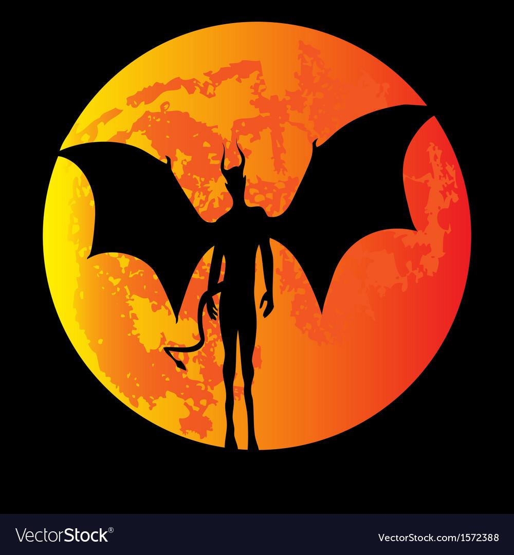 Devil moon vector | Price: 1 Credit (USD $1)