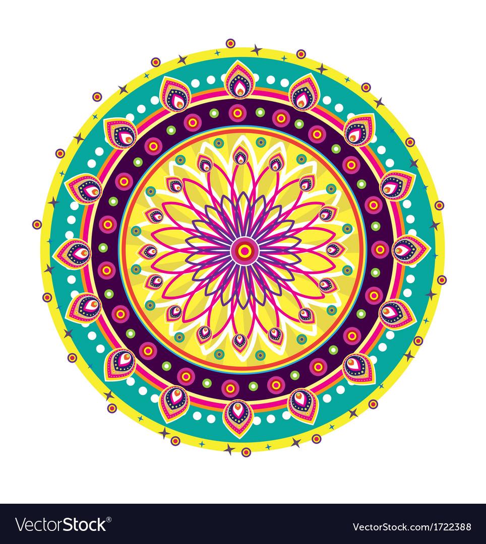 Indian medallion design vector | Price: 1 Credit (USD $1)