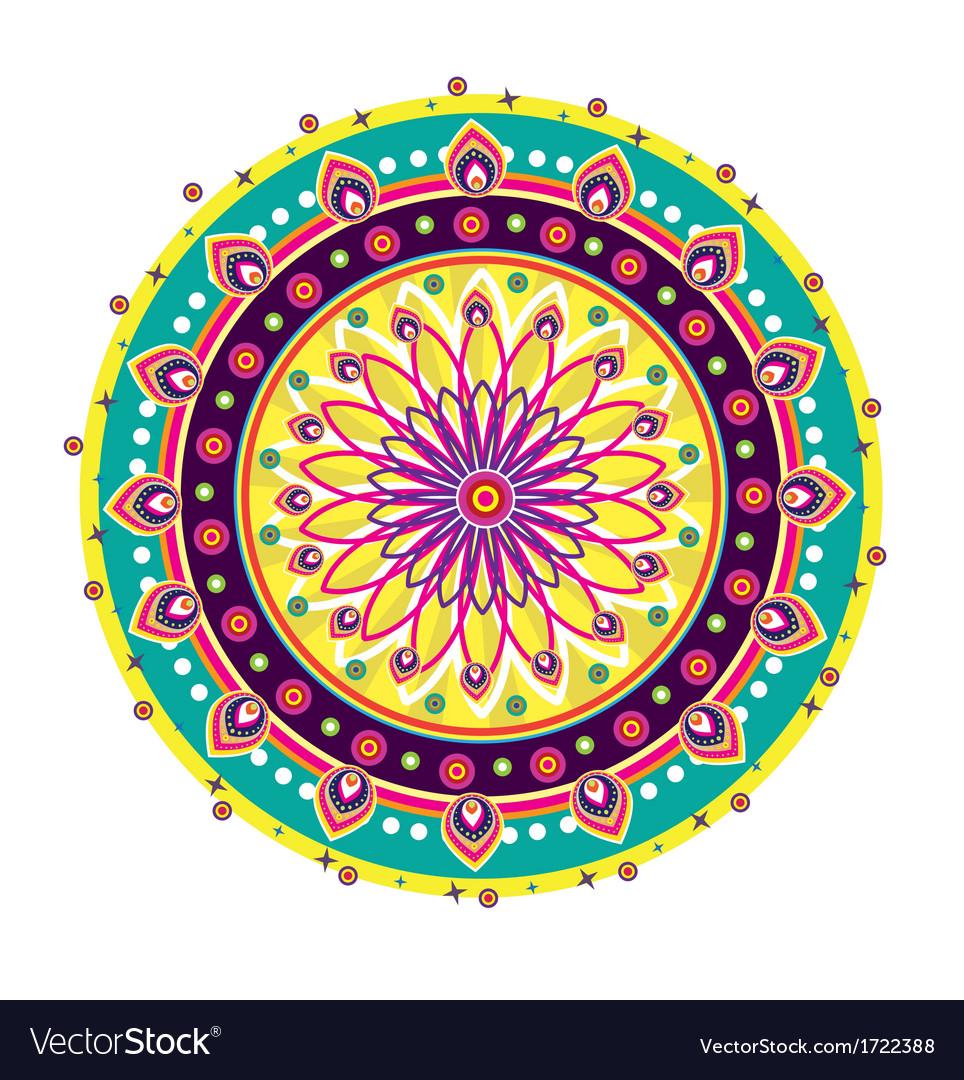 Indian medallion design vector | Price: 1 Credit (USD $1)