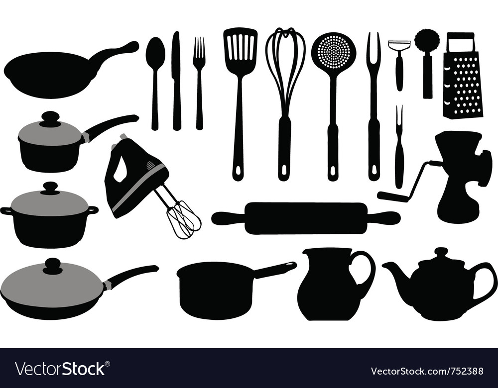 Kitchen tools collage vector | Price: 1 Credit (USD $1)