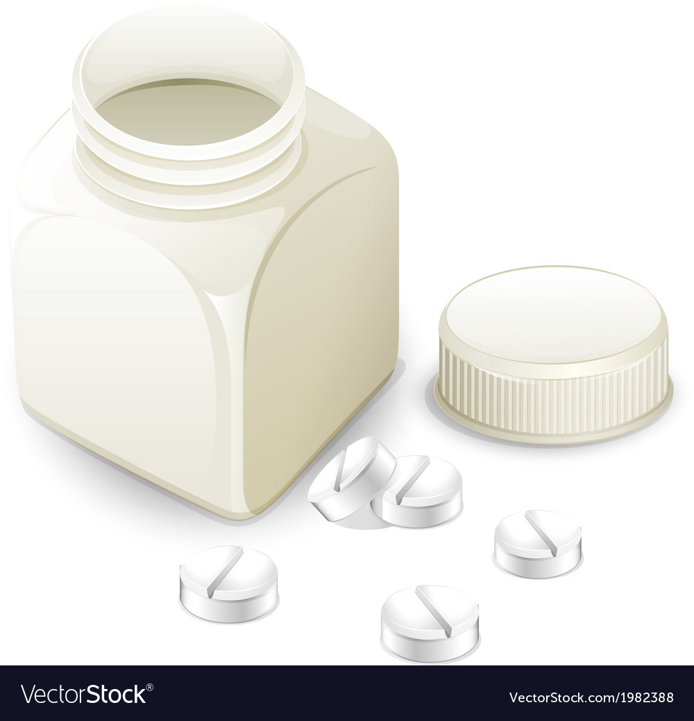 Medicine bottle vector | Price: 1 Credit (USD $1)