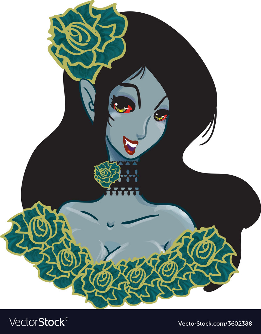 Monster vampire southern belle woman vector | Price: 1 Credit (USD $1)