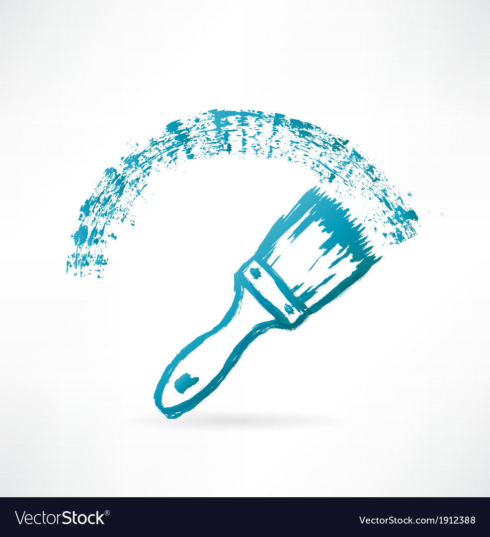 Paint brush icon vector | Price: 1 Credit (USD $1)