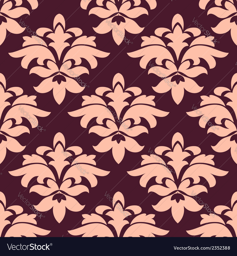 Purple and pink seamless floral pattern vector | Price: 1 Credit (USD $1)