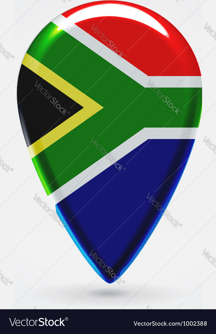 Republic of south africa icon point for map vector | Price: 1 Credit (USD $1)