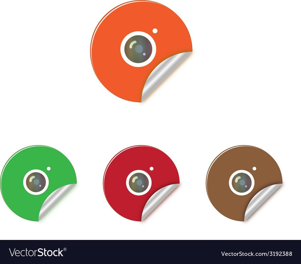 Sticker camera vector | Price: 1 Credit (USD $1)