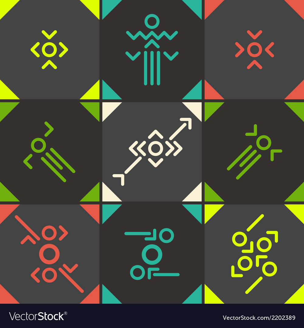 Abstract symbol set vector | Price: 1 Credit (USD $1)