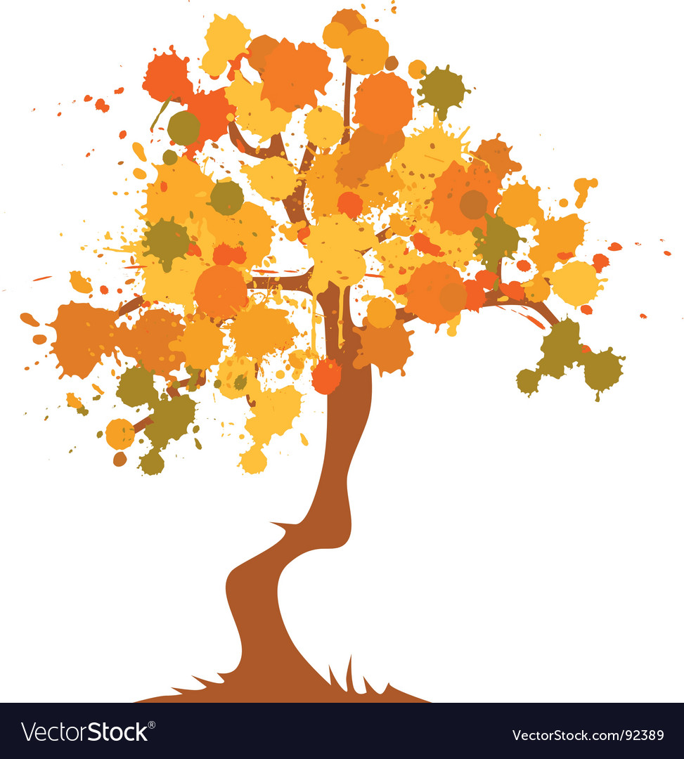 Autumn abstract tree vector | Price: 1 Credit (USD $1)
