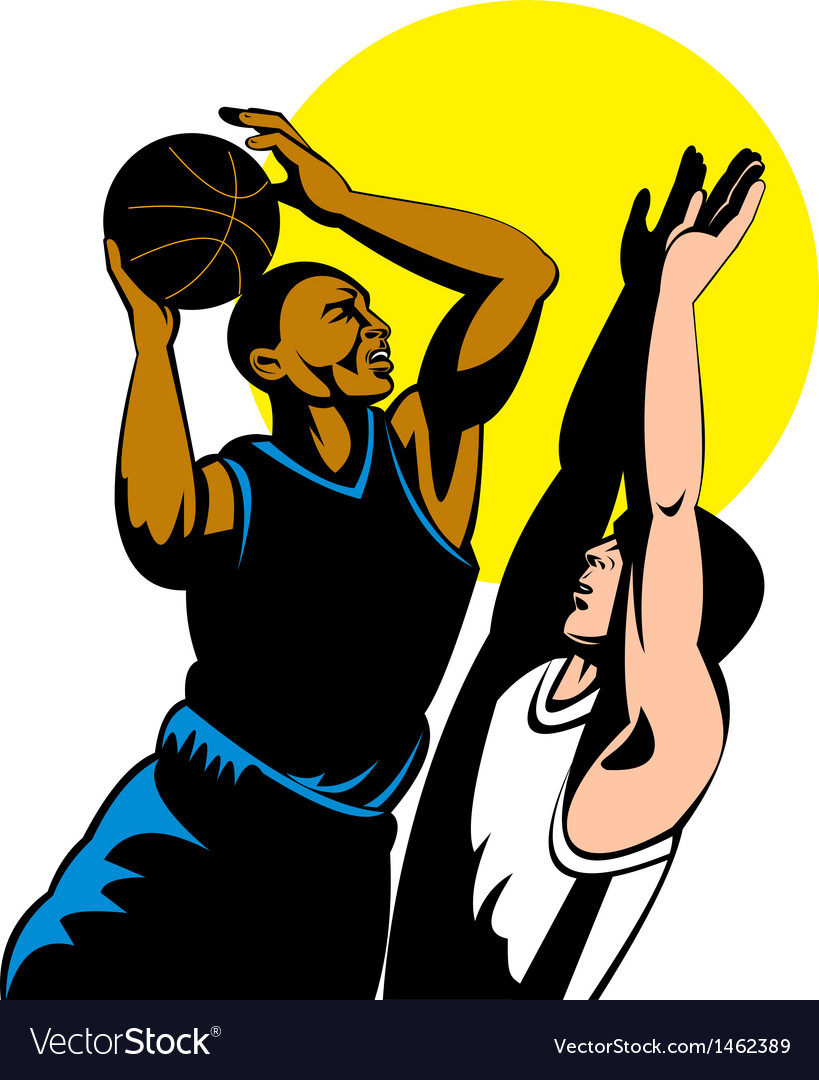 Basketball player shooting ball vector | Price: 1 Credit (USD $1)