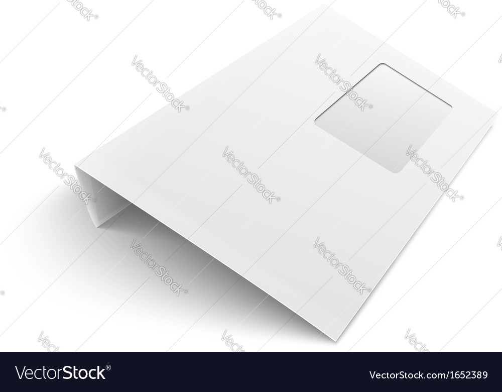 Blank envelope with window on white background vector | Price: 1 Credit (USD $1)