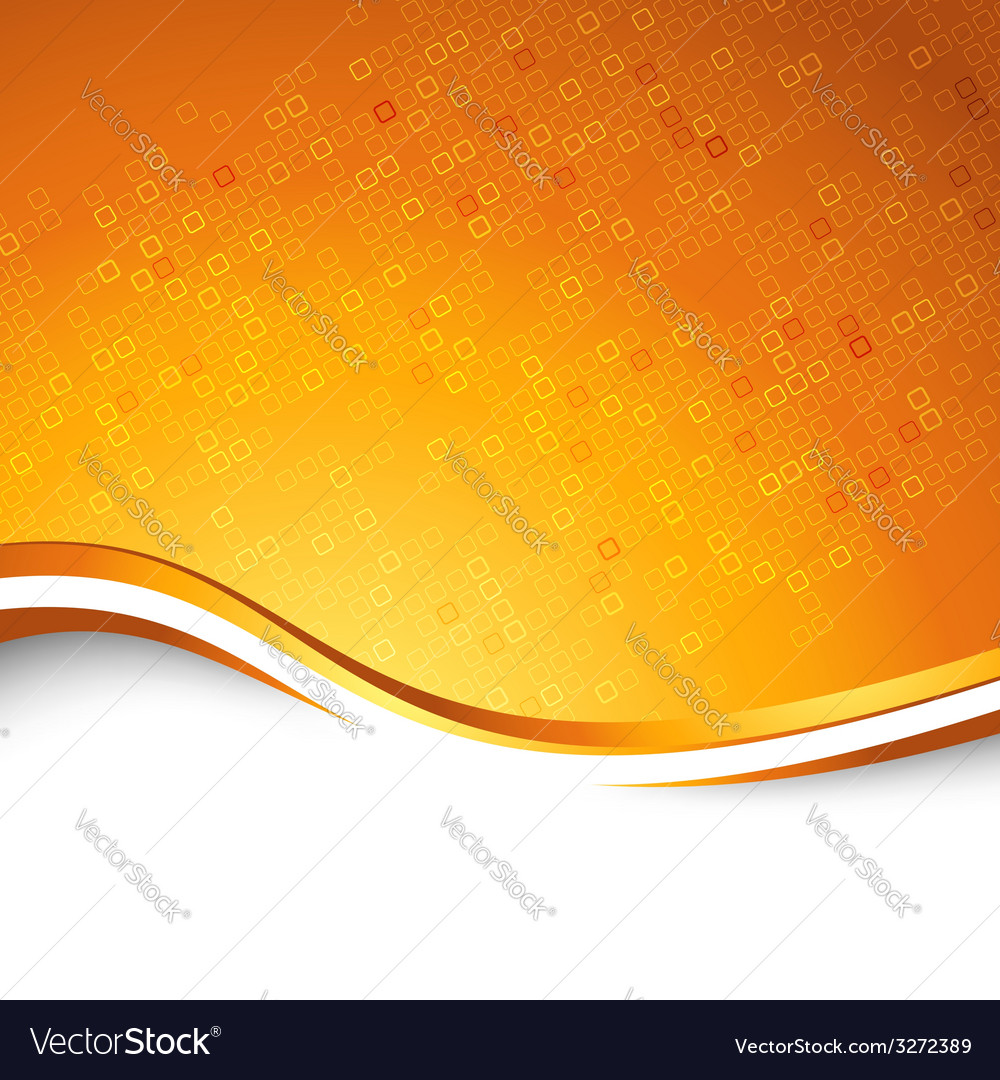 Bright orange swoosh wave particle background vector | Price: 1 Credit (USD $1)