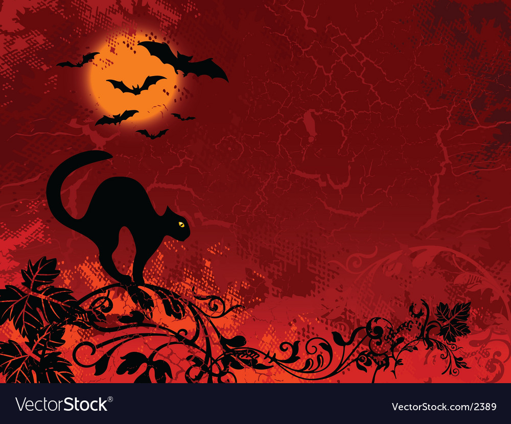 Cat bat halloween vector | Price: 1 Credit (USD $1)
