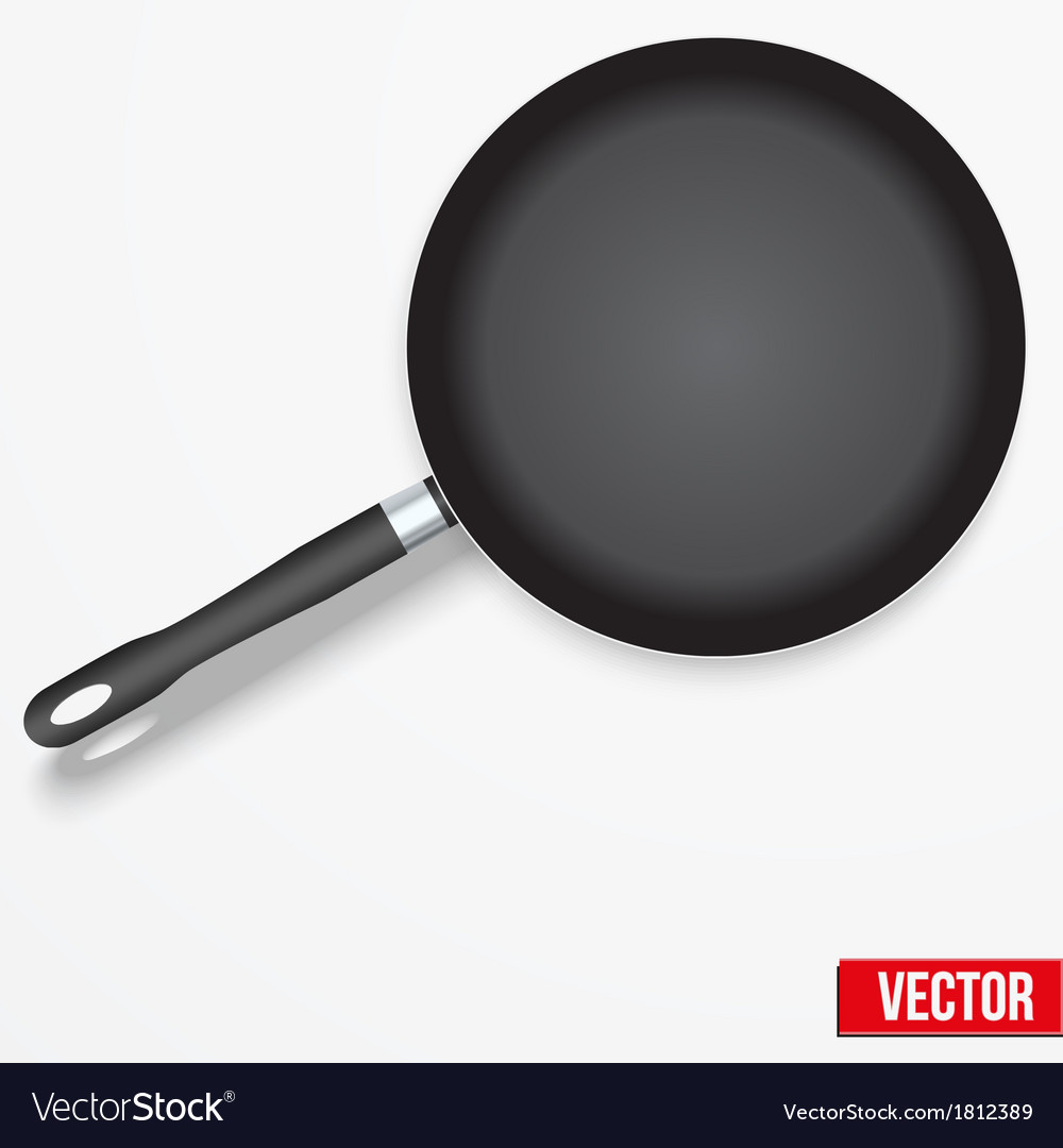 Frying pan isolated on white background vector   Price: 1 Credit (USD $1)