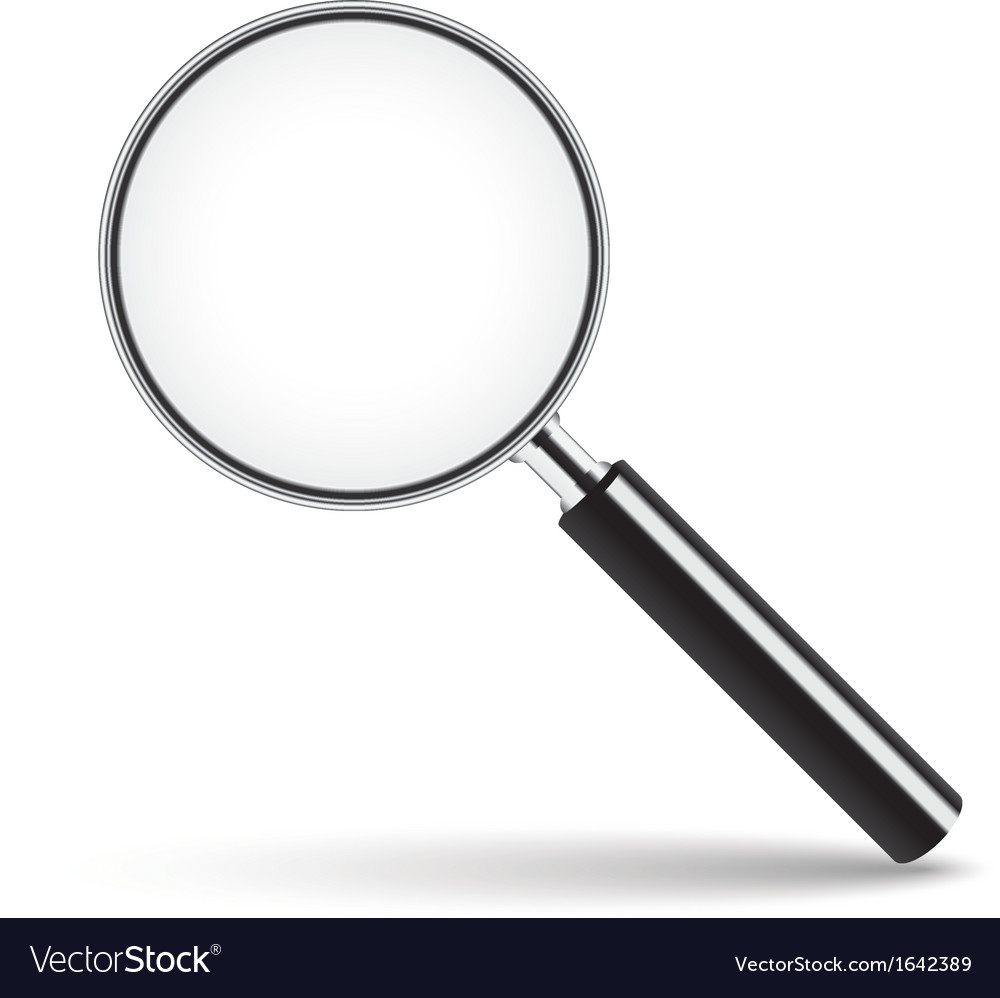 Magnifying glass with transparent glass vector | Price: 1 Credit (USD $1)