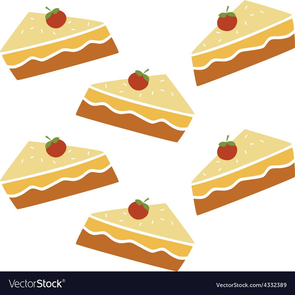 Pie cake pattern vector   Price: 1 Credit (USD $1)