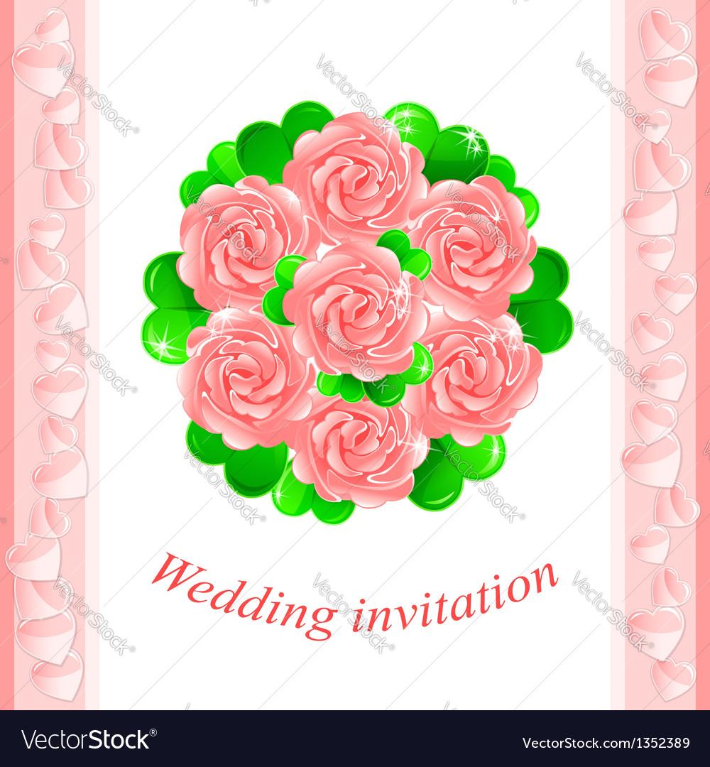 Pink wedding invitation vector   Price: 1 Credit (USD $1)
