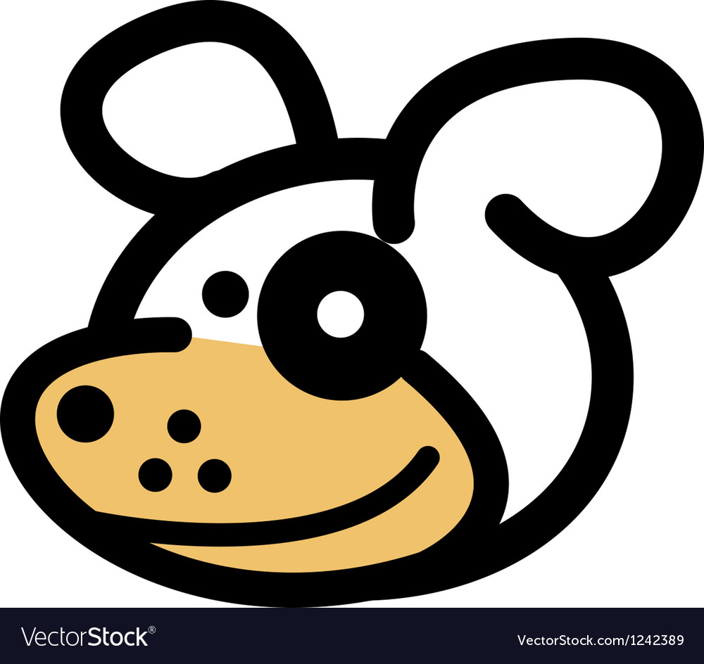 Playful cartoon dog vector | Price: 1 Credit (USD $1)