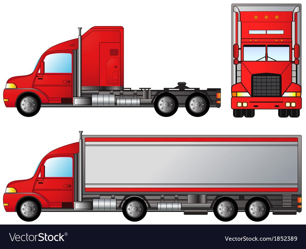 Set big american truck vector | Price: 1 Credit (USD $1)