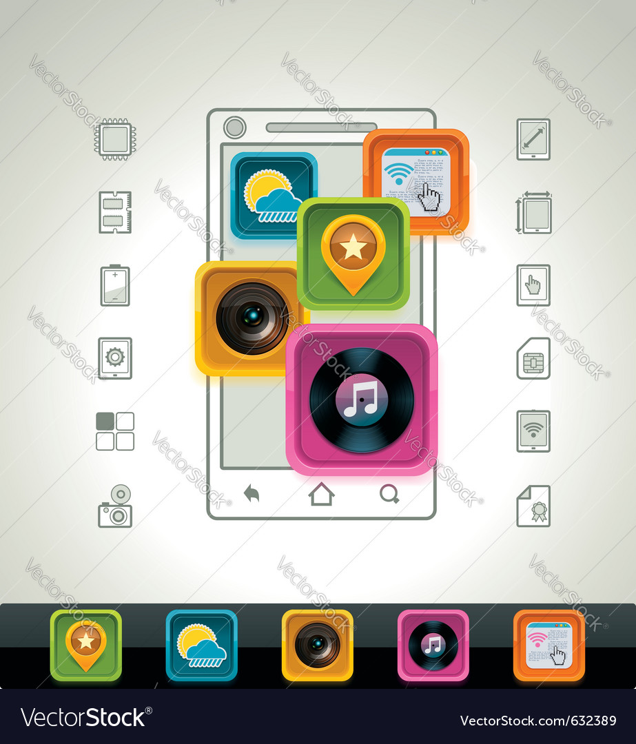 Smartphone icon vector | Price: 1 Credit (USD $1)