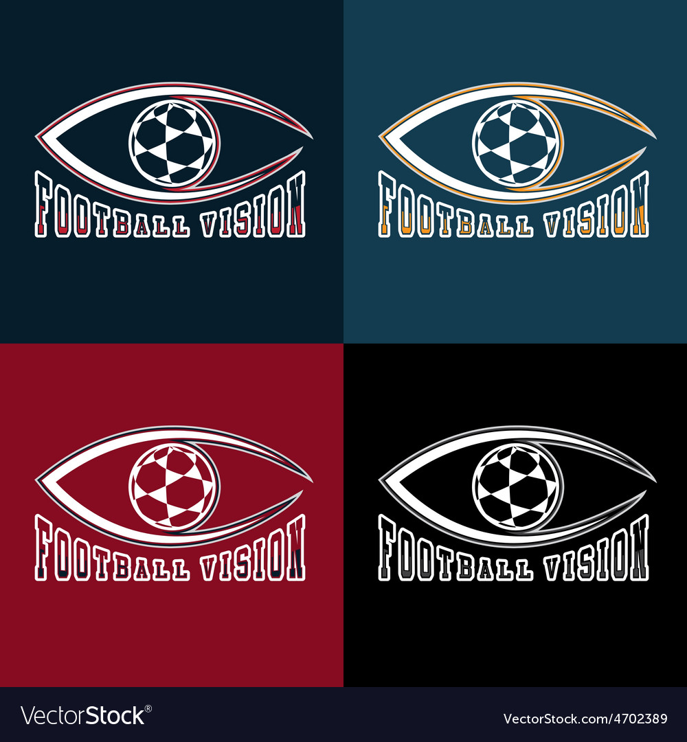Soccer vision design template vector | Price: 1 Credit (USD $1)