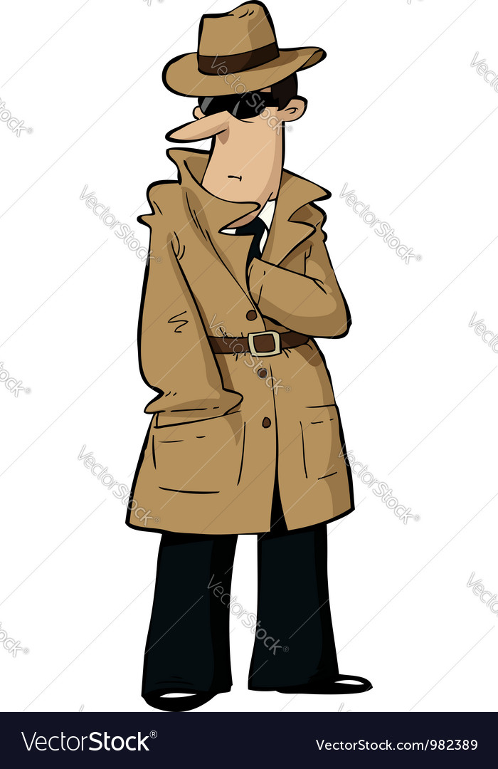 Spy hides hand vector | Price: 1 Credit (USD $1)