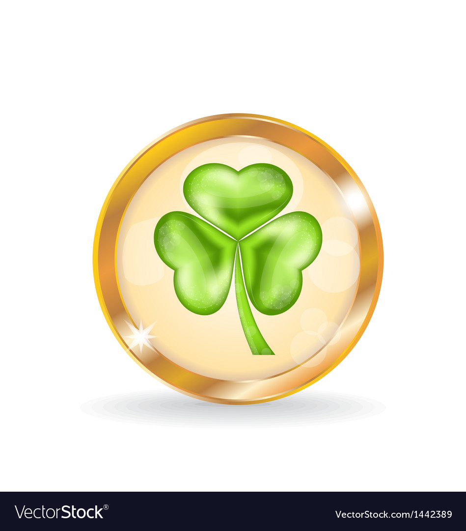 Trefoil icon isolated for saint patrick day vector | Price: 1 Credit (USD $1)